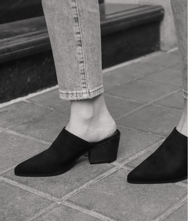 Zapato Mule Ladin - Negro