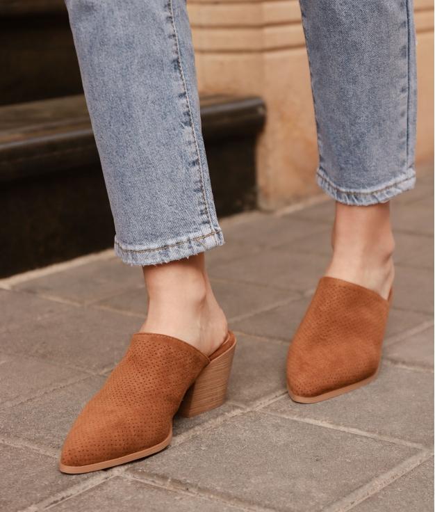 Zapato Mule Ladin - Chameau