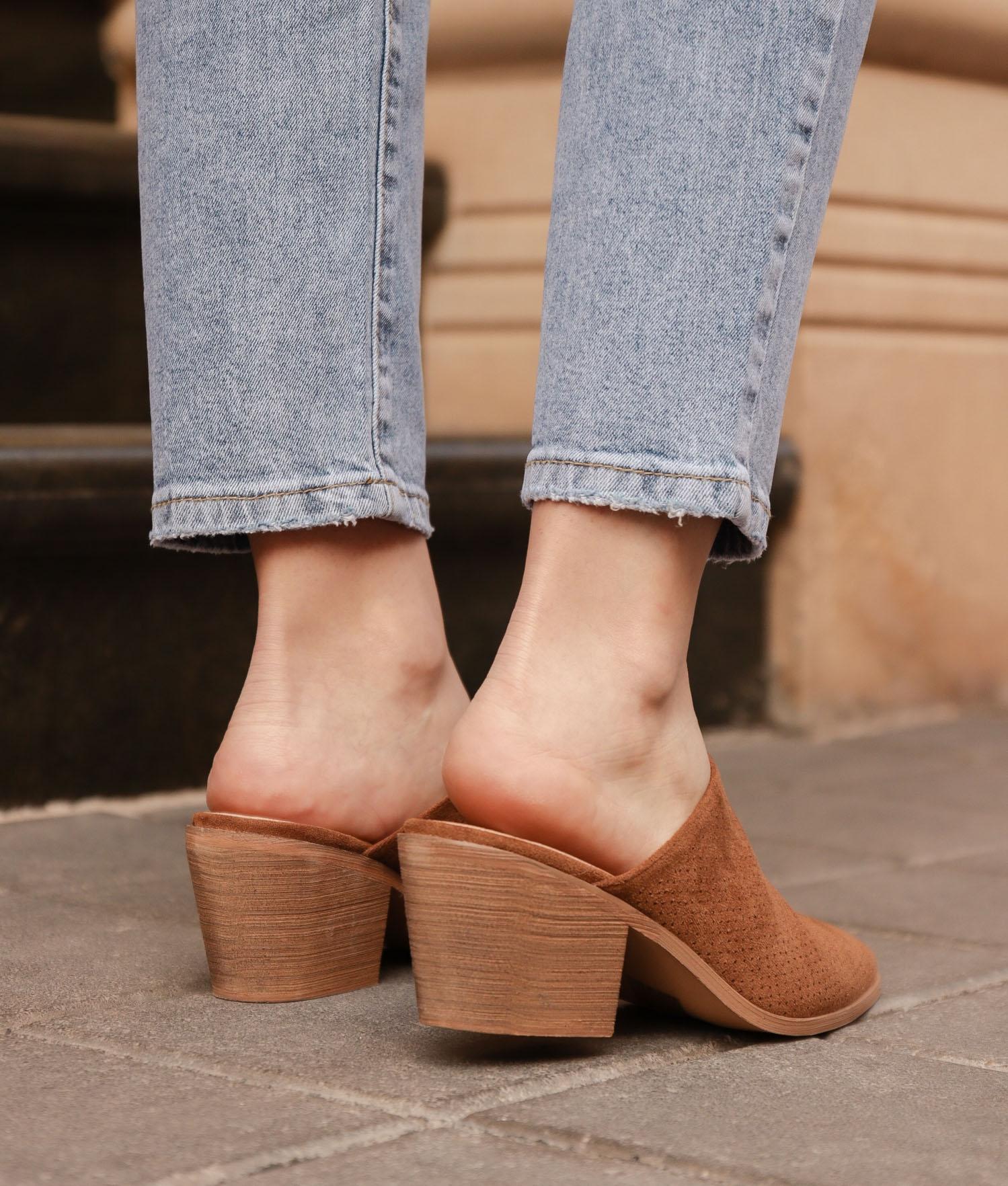 Zapato Mule Ladin - Cammello