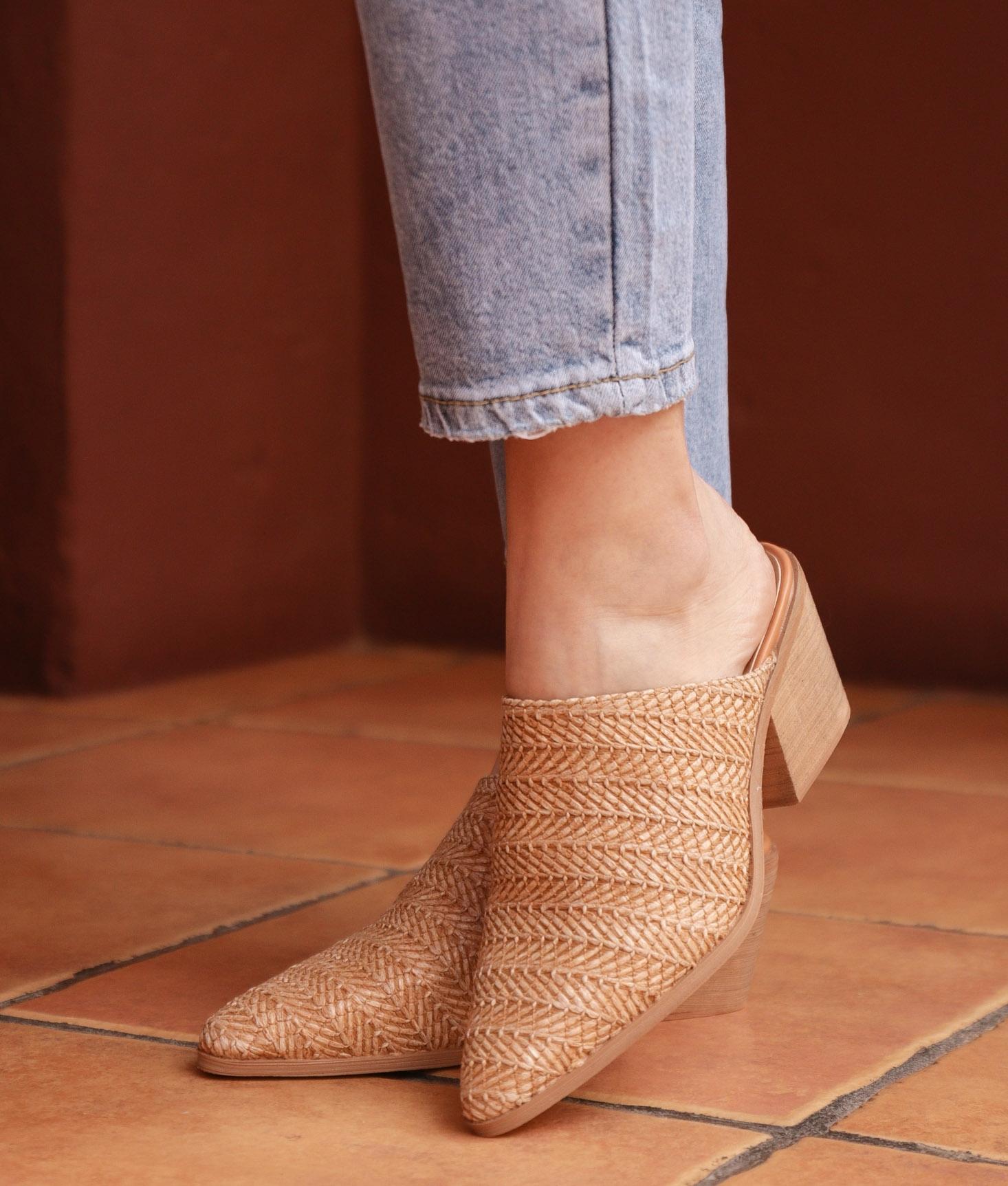 Zapato Mule Ware - Camelo