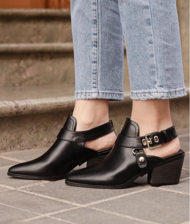 Zapato Mule Babu - Negro