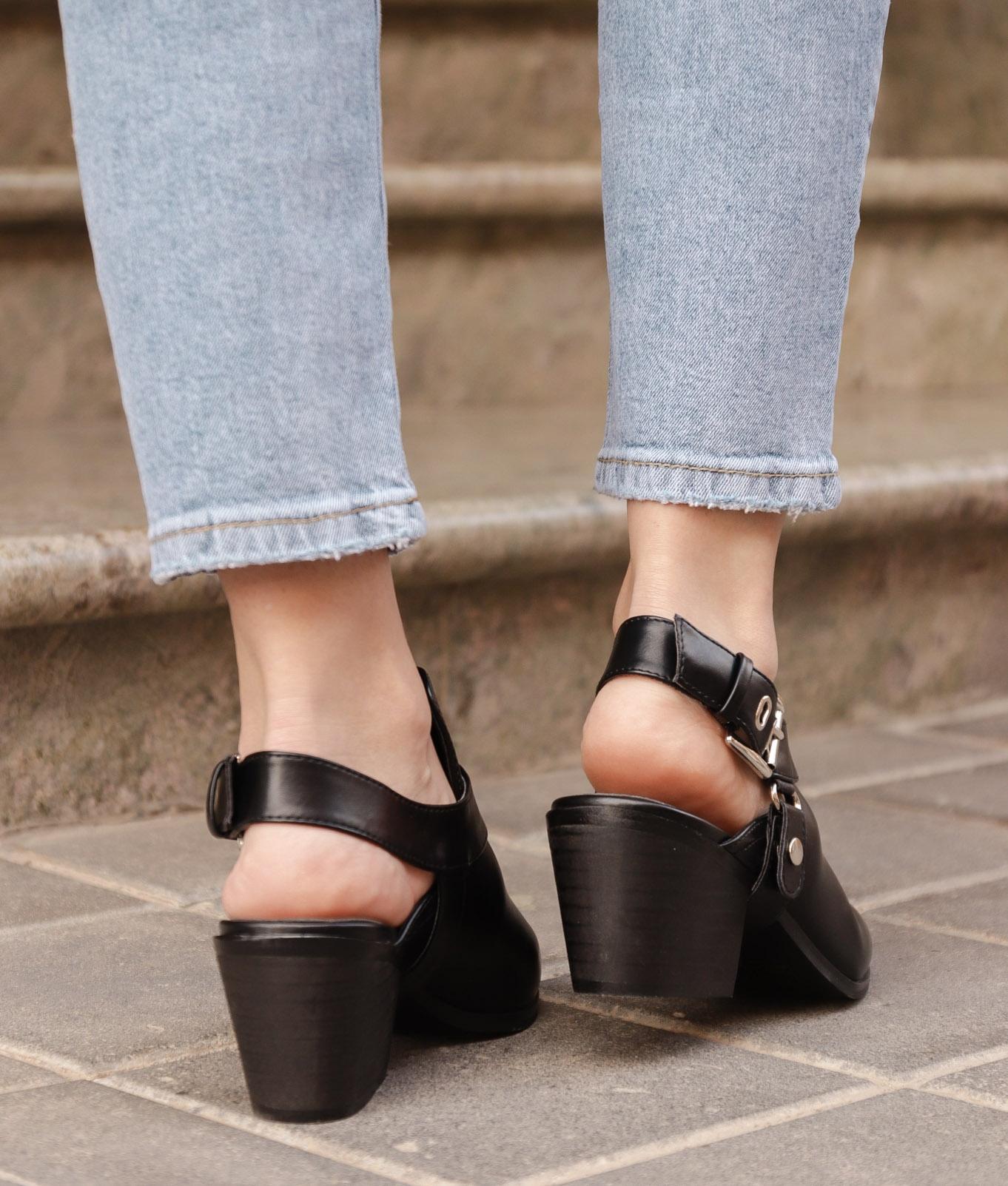 Zapato Mulé Babu - Black