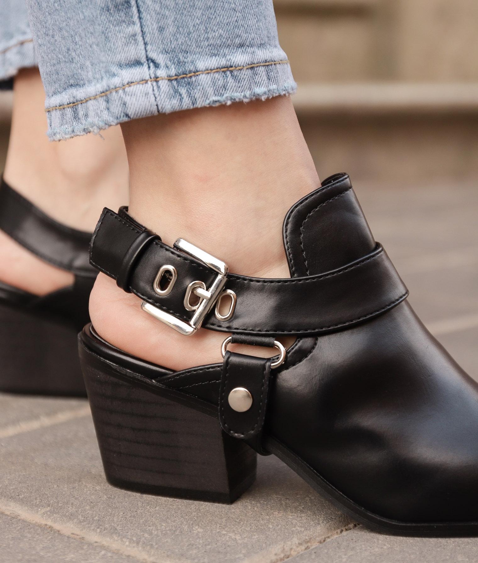 Zapato Mule Babu - Preto