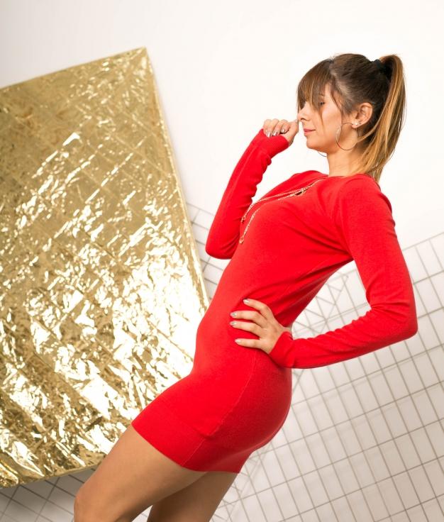 Vestido Yingu - Roja