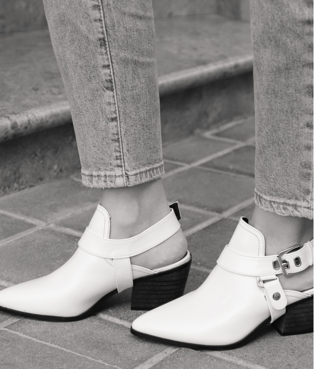 Zapato Mule Babu - Blanc