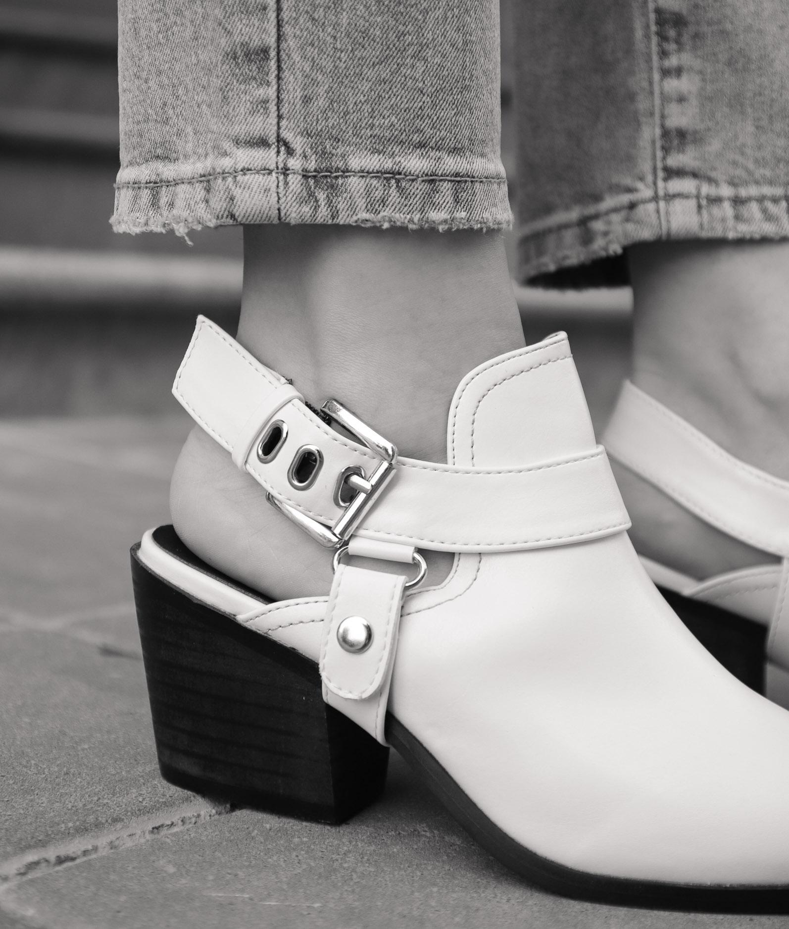 Zapato Mule Babu - Bianco