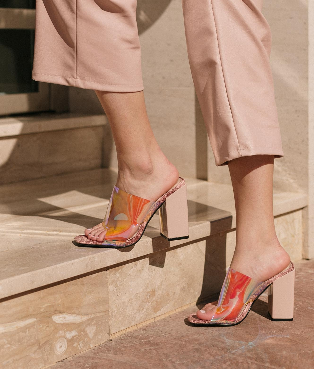 Sandália de Salto Taner - Nude