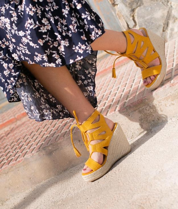Wedge Heel Marelin - Yellow