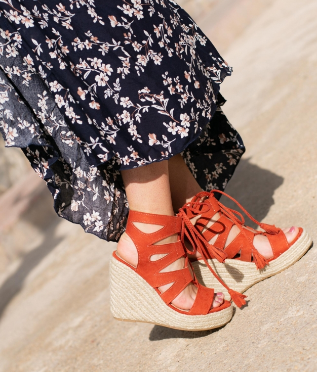Wedge Heel Marelin - Orange