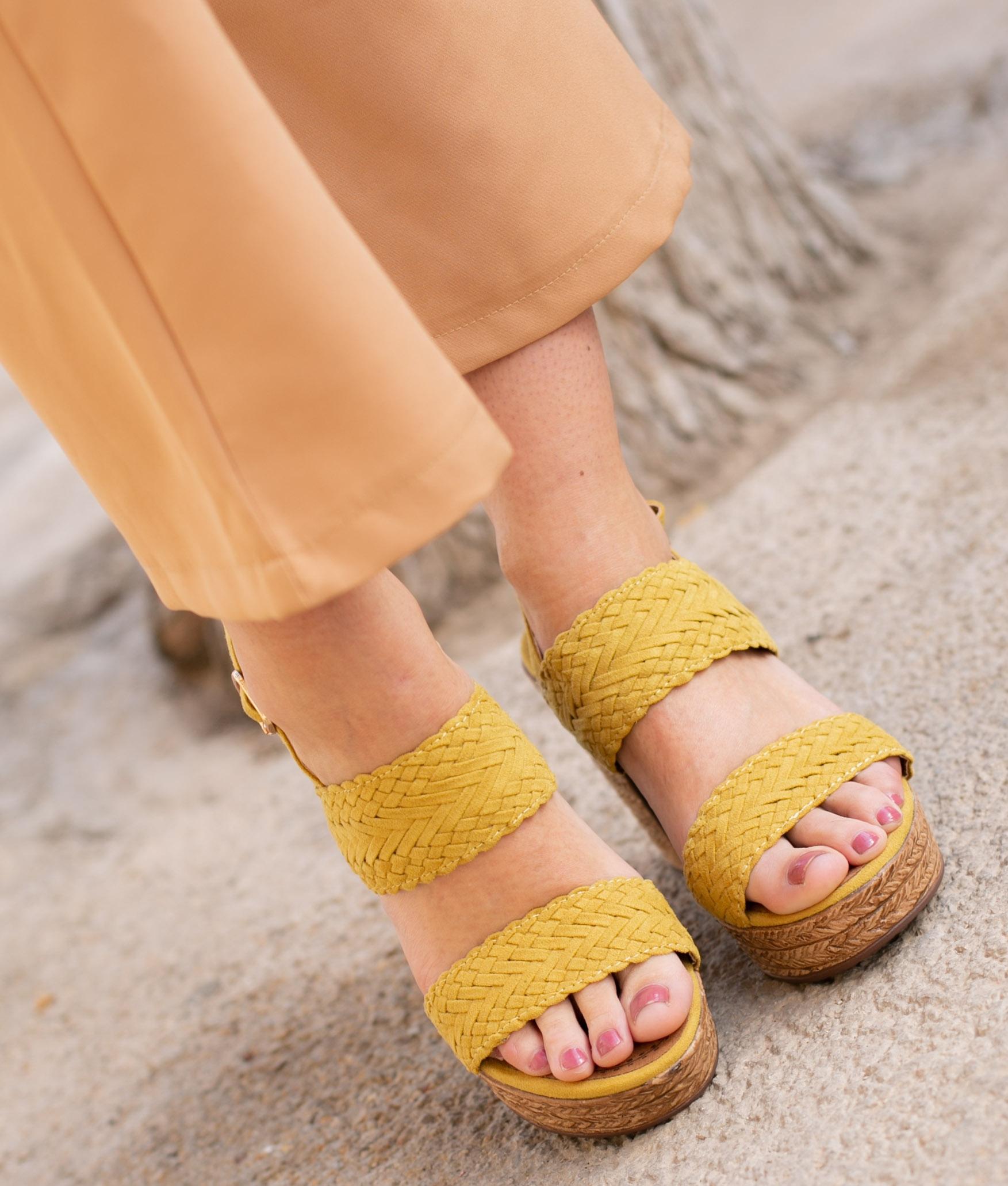 High Sandal Landa - Yellow
