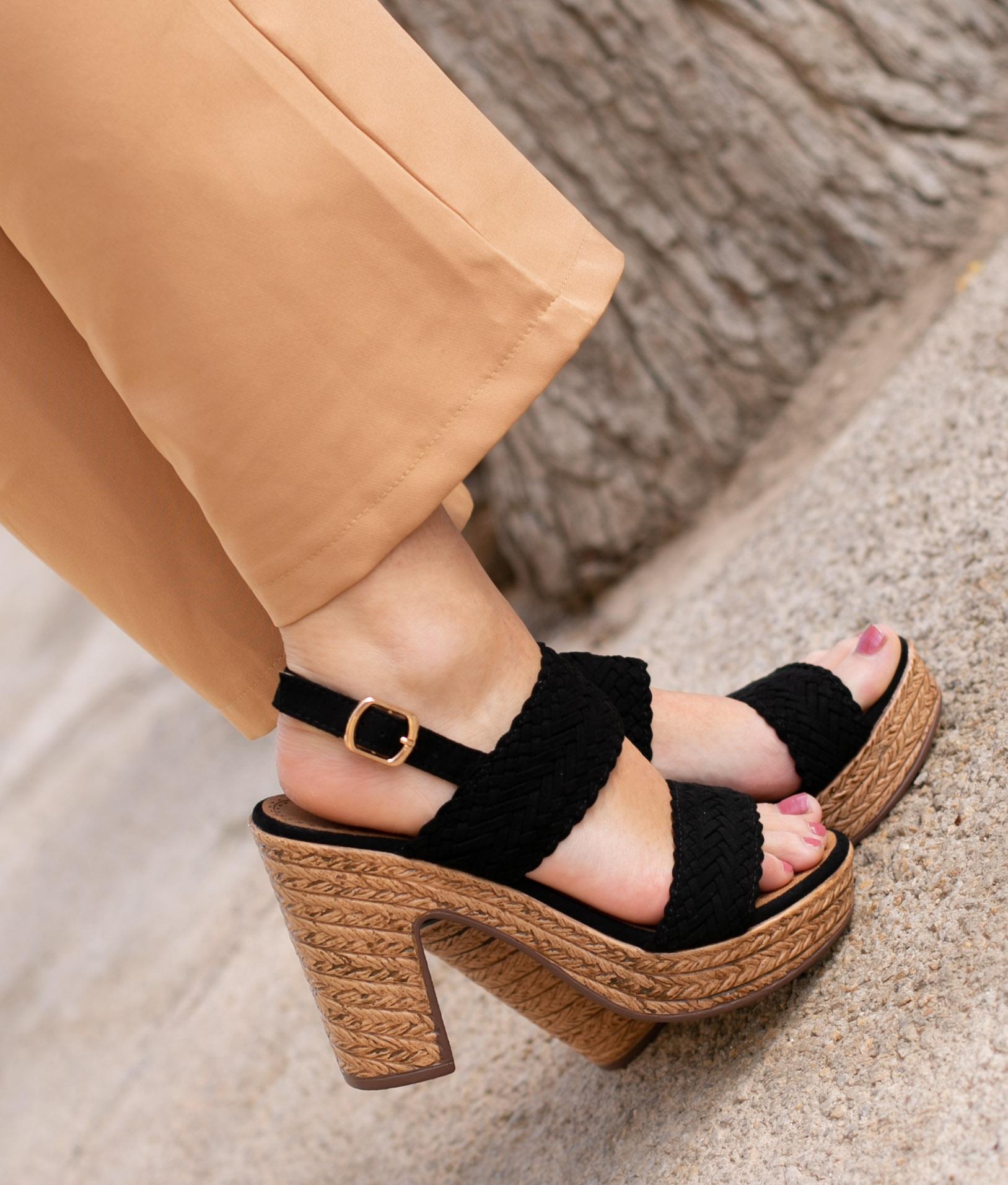 High Sandal Landa - Black