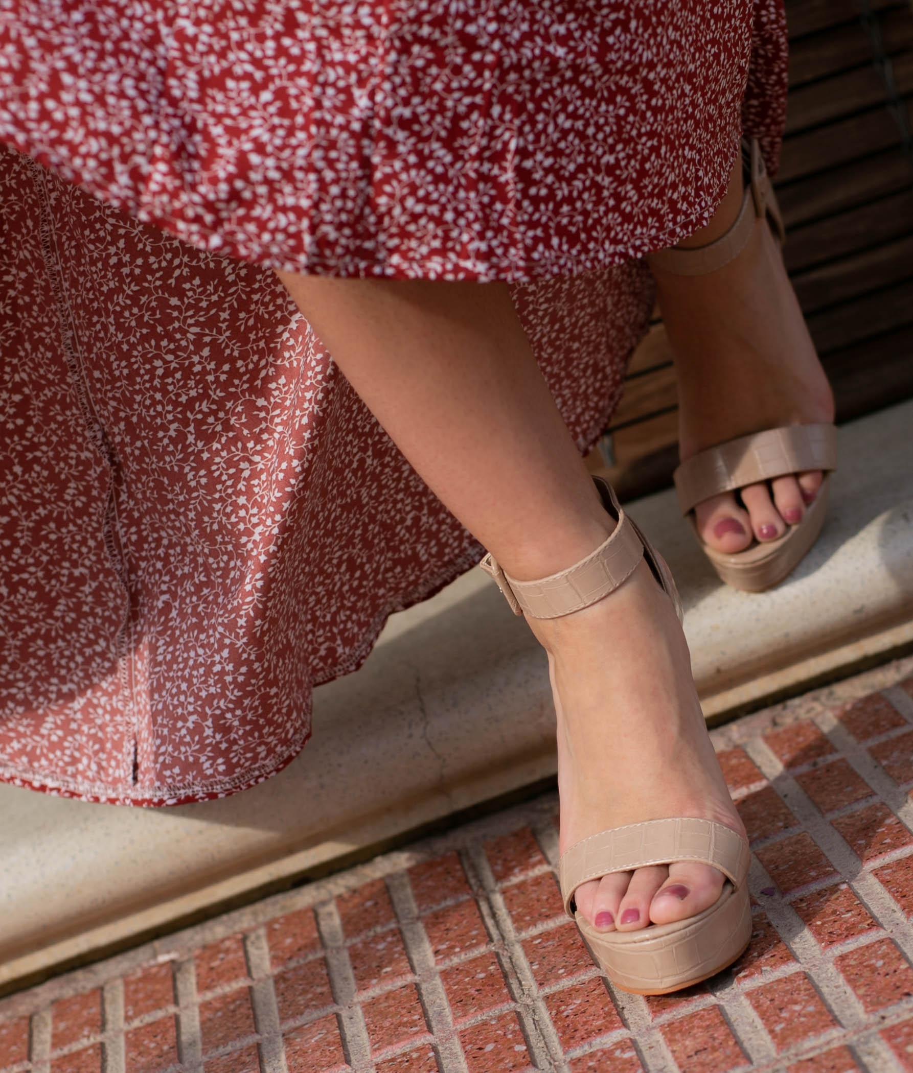 Sandália de Salto Apadir - Rosa