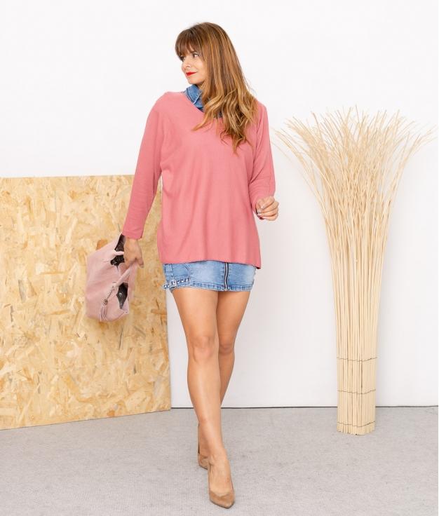 Sweater Mical - Dark Pink