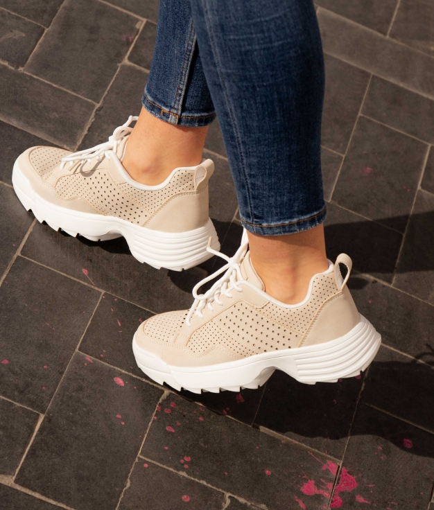 Sneakers Lopen - Beige