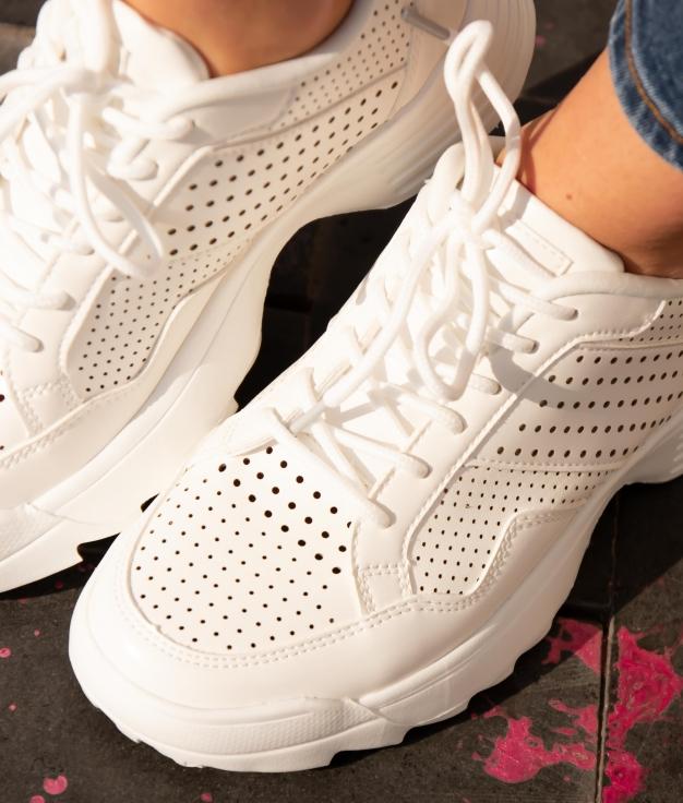 Sneakers Lopen - Bianco
