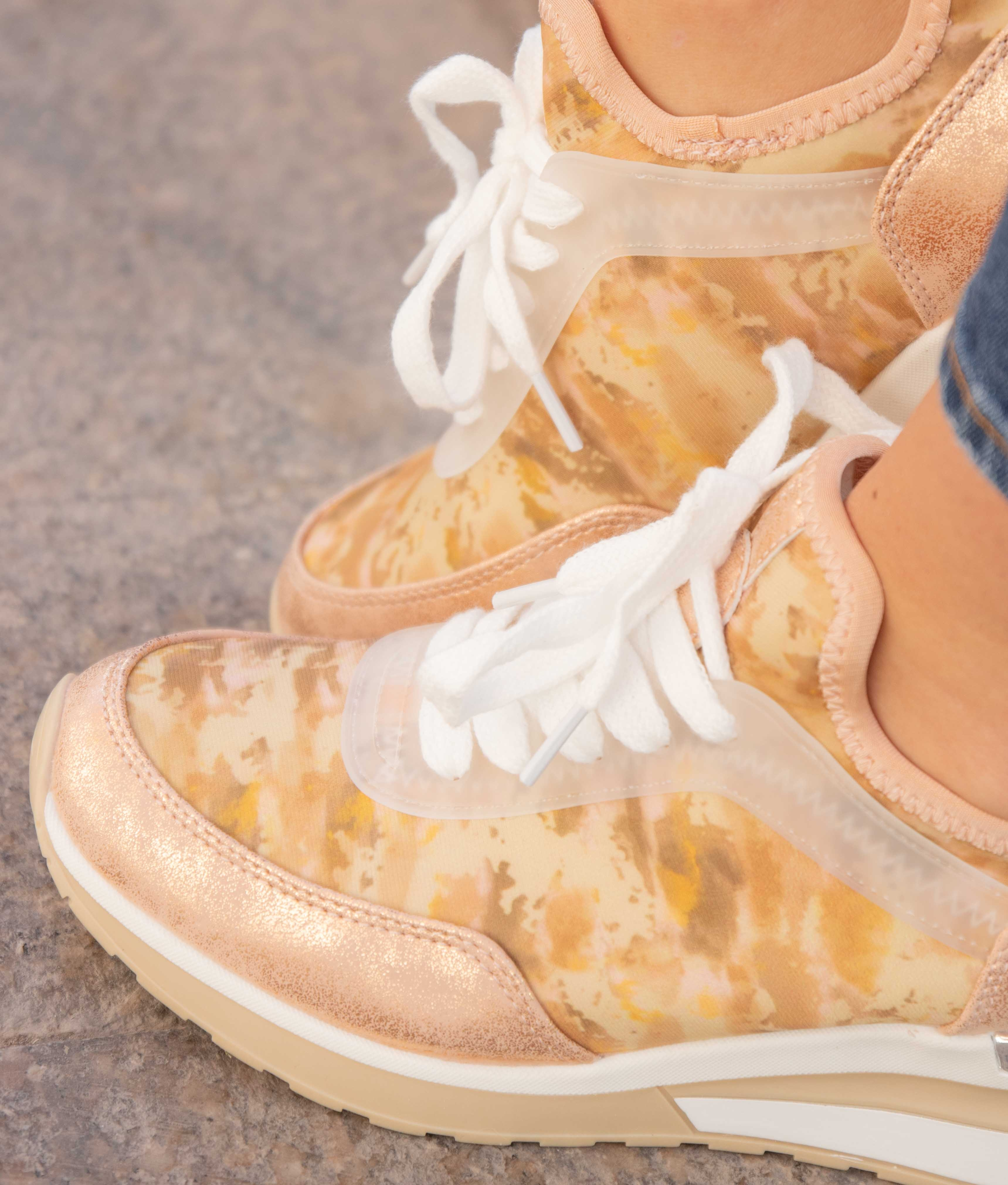 Sneakers Fliral - Nude