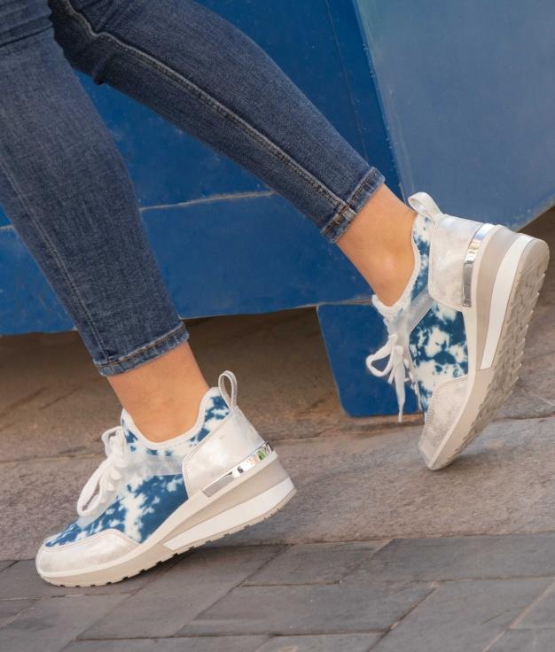 Sneakers Fliral - Blu Marino