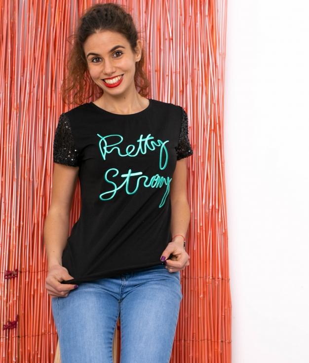 Camicia Rey - Preto/Turchese