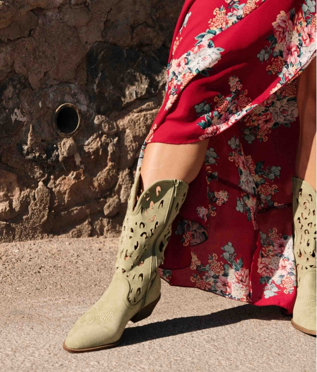 Knee-length Boot Yolis - Green