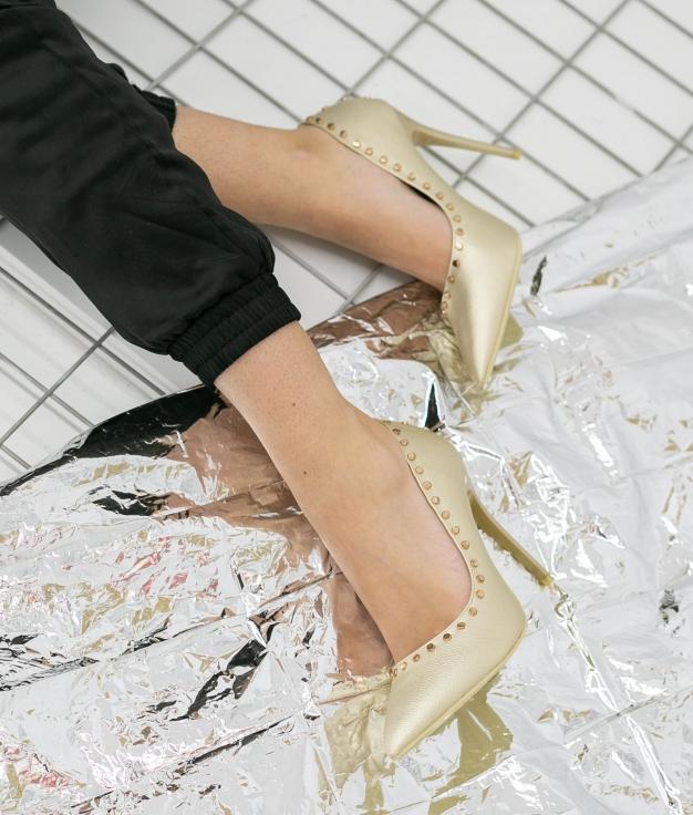 Sapato De Salto Reyes - Oro