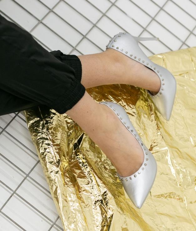 Sapato De Salto Reyes - Prata