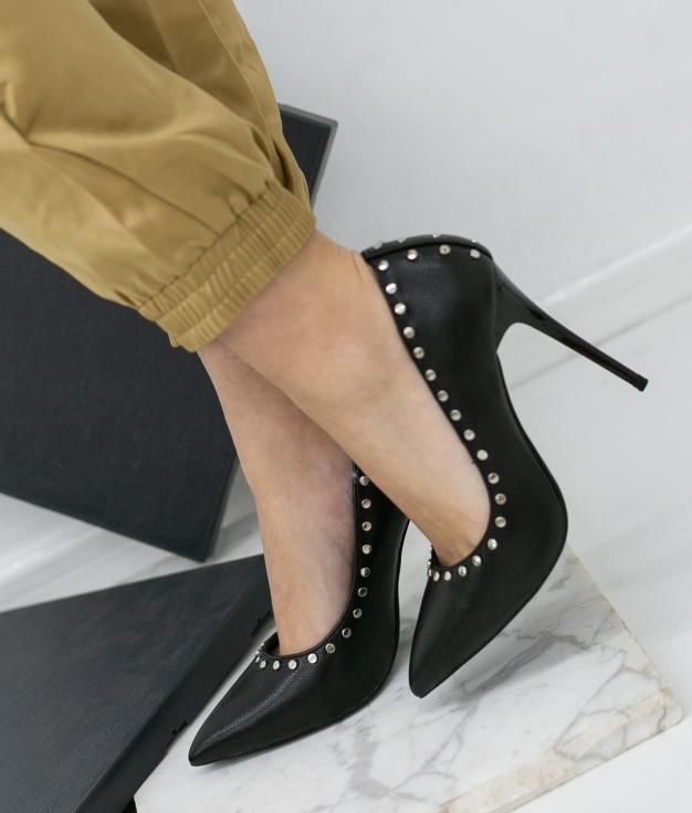 Zapato De Tacón Reyes - Negro