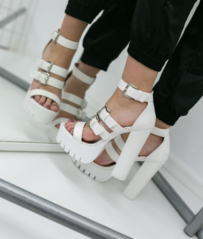 High Sandal Palado - White
