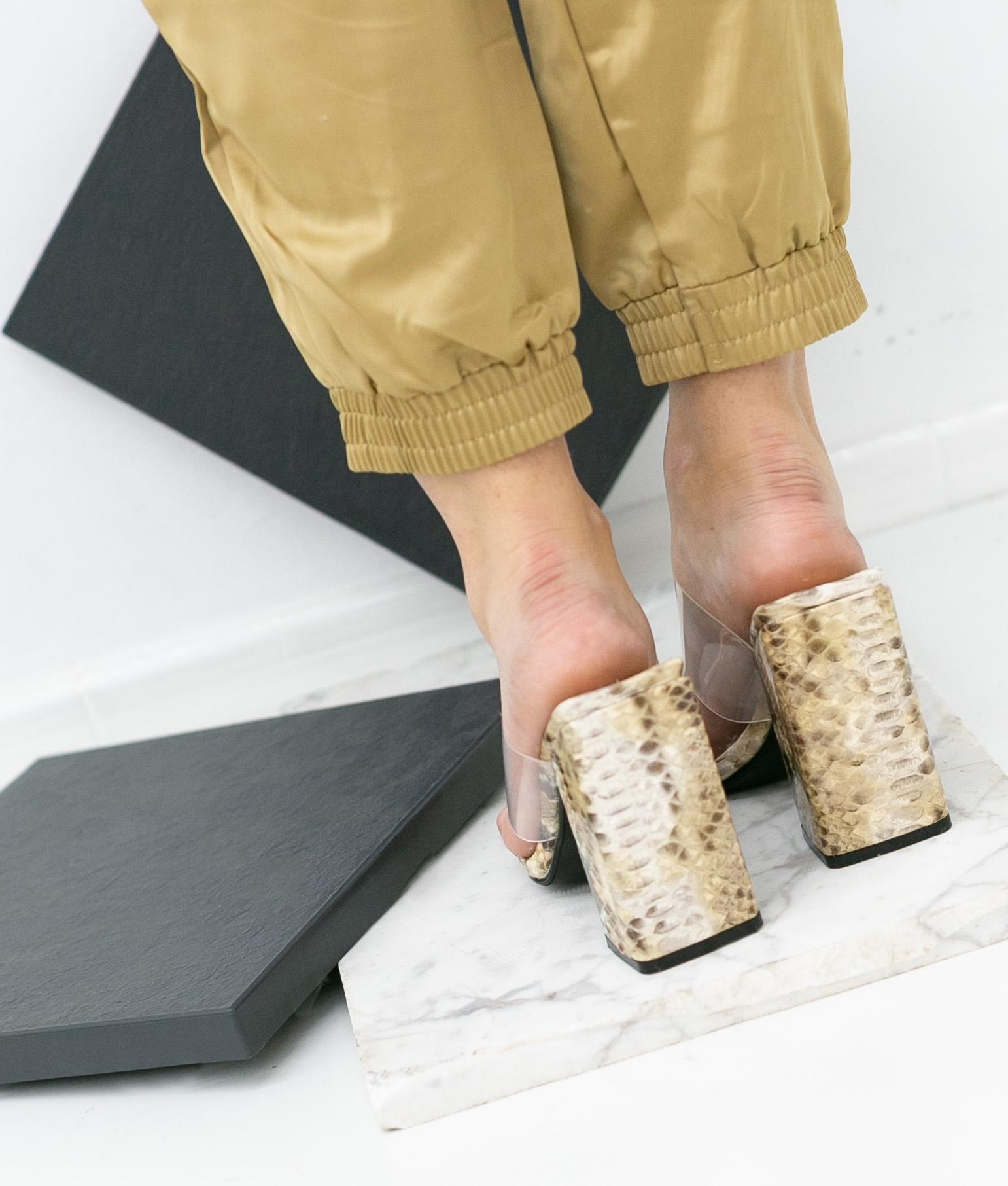 Sandália de Salto Kacen - Marrom