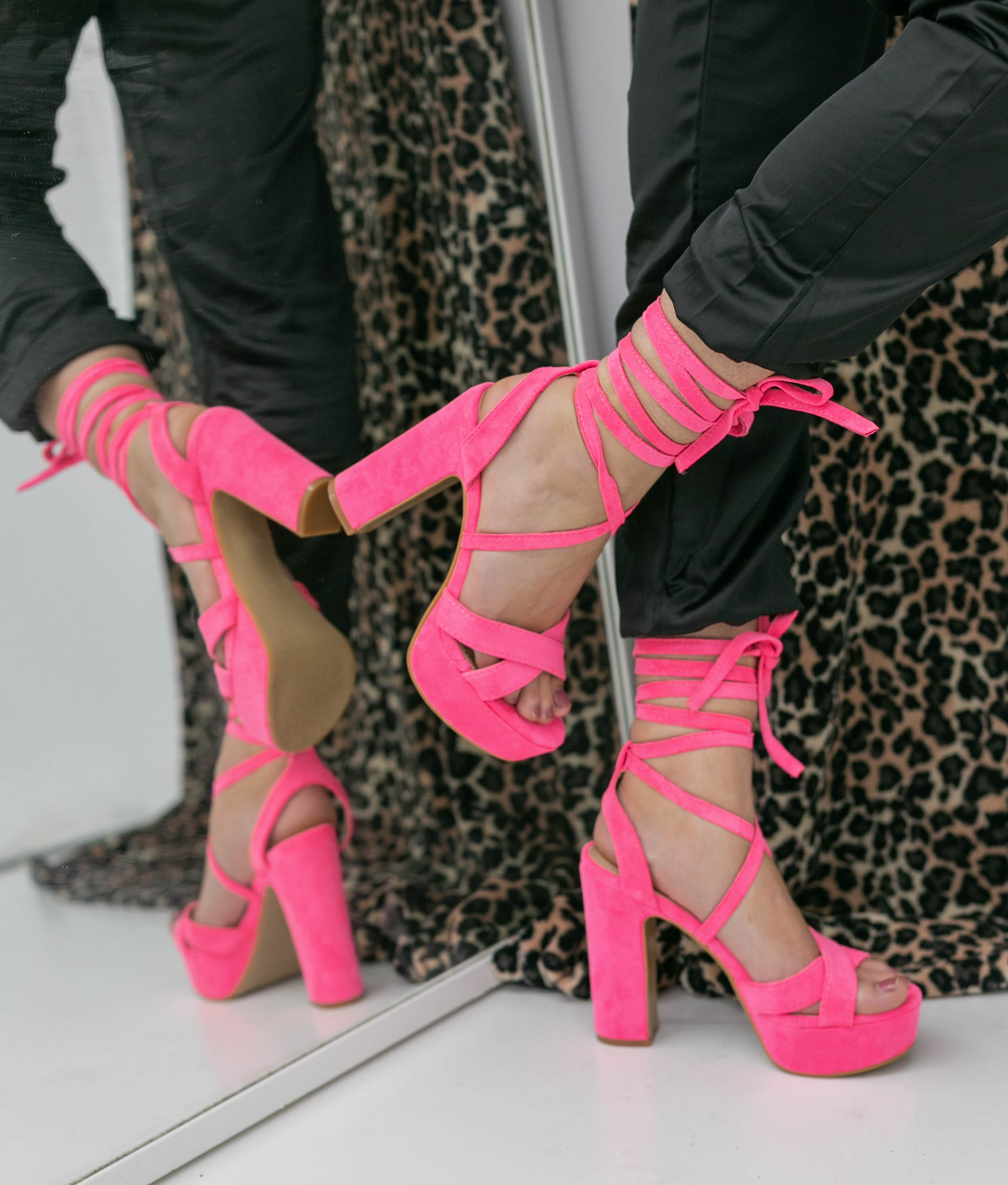 High Sandal Danity - Pink