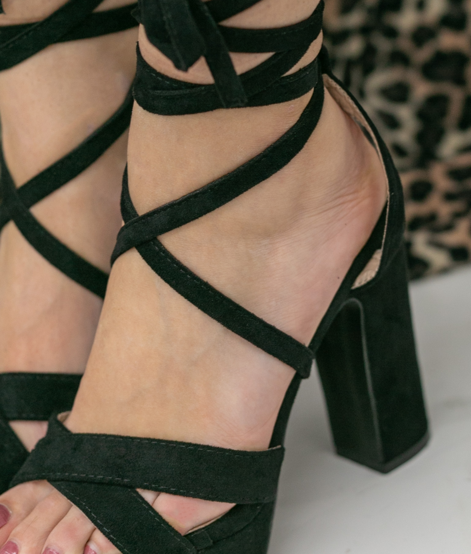 High Sandal Danity - Black