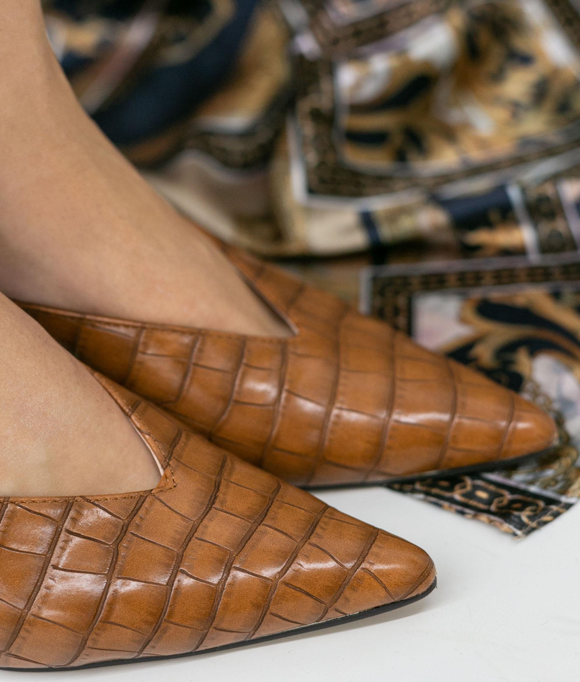 Zapato Mulé Vaner - Camel