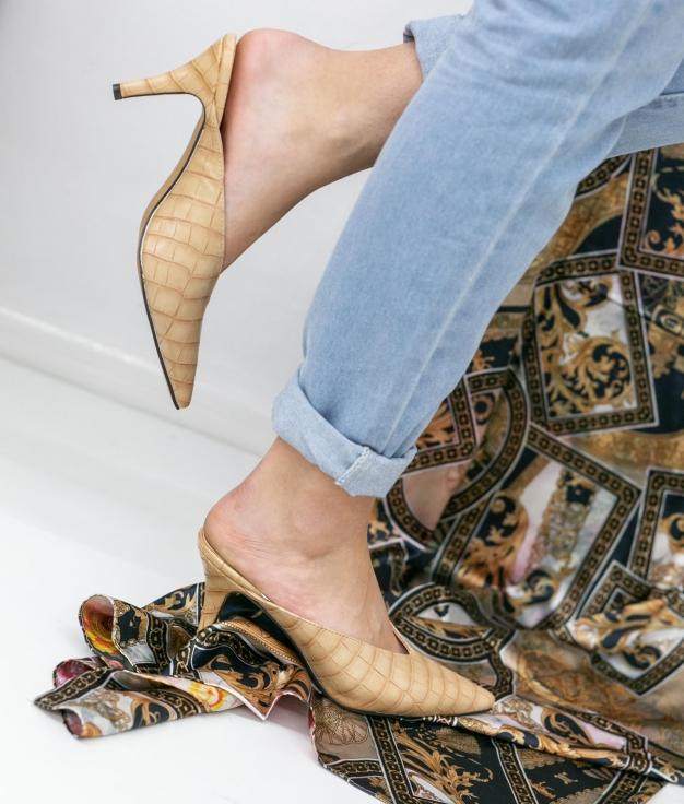 Zapato Mulé Vaner - Beige
