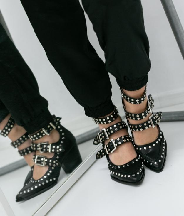 Zapato De Tacón Royer - Negro