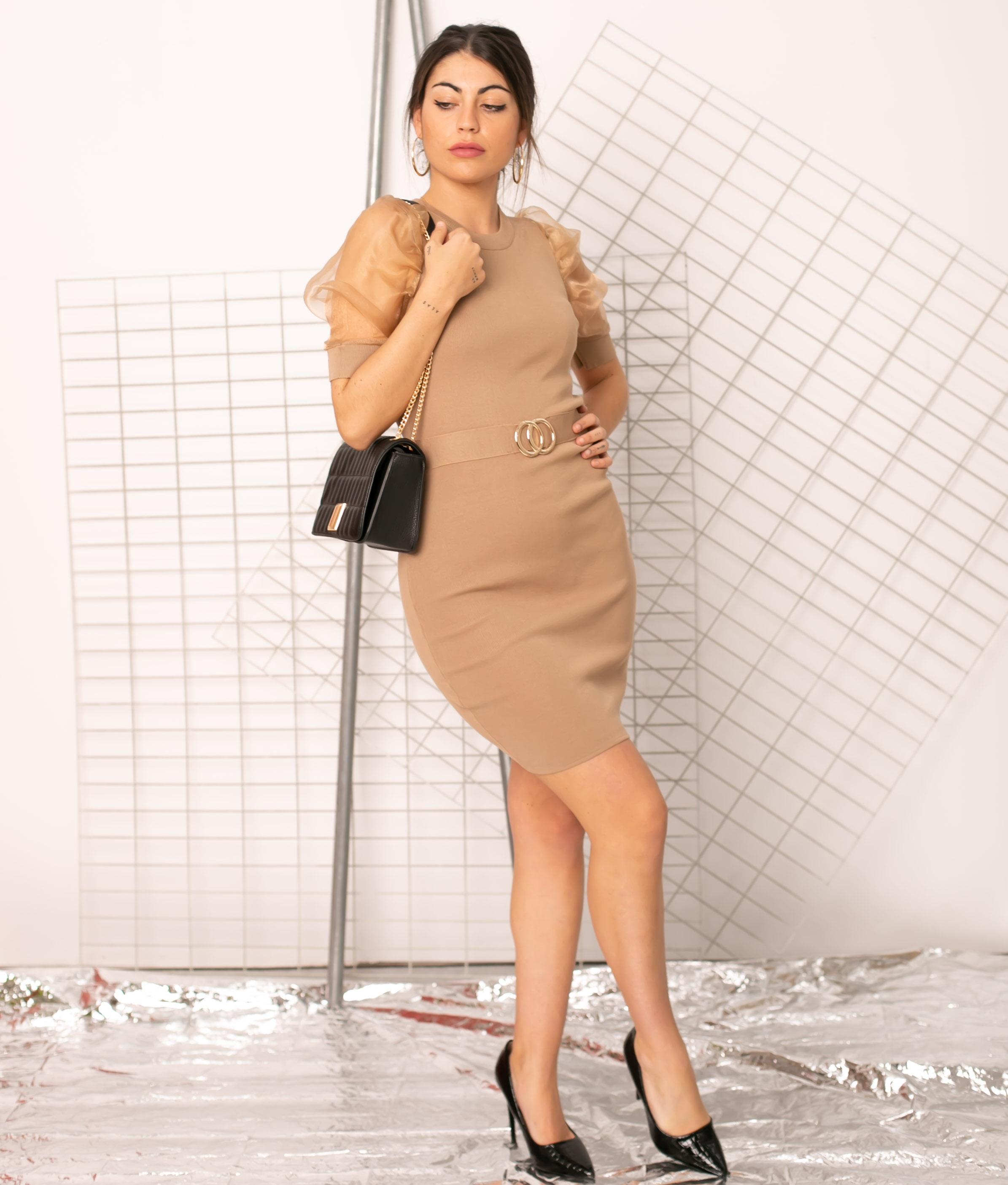 Vestido Sines - Cammello