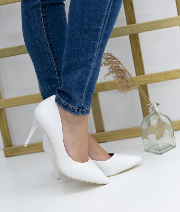 Zapato De Tacón Tilda - Blanco