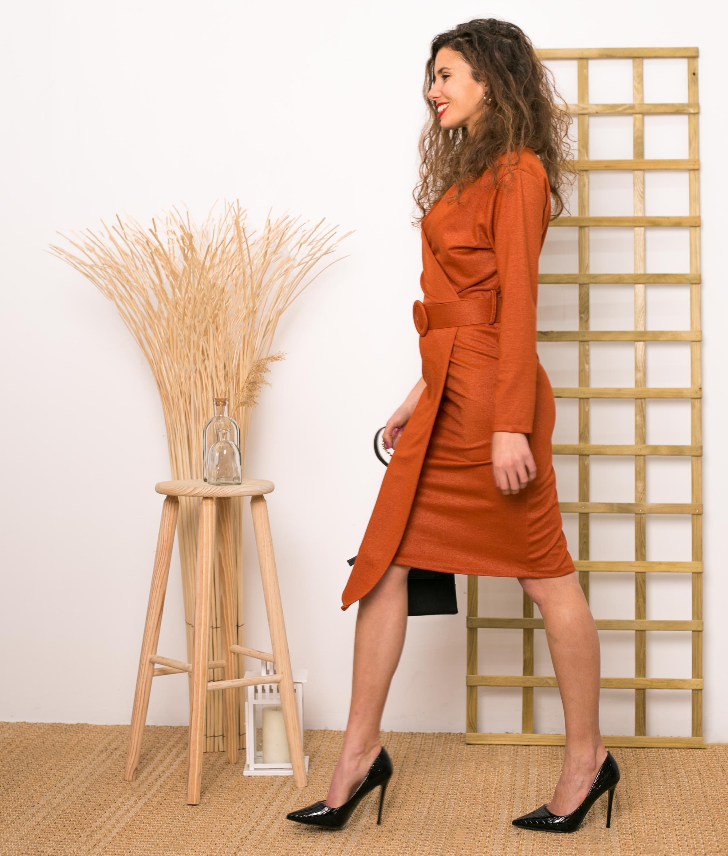 Vestido Ayr - Teja