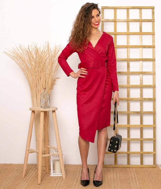Vestido Ayr - Granate