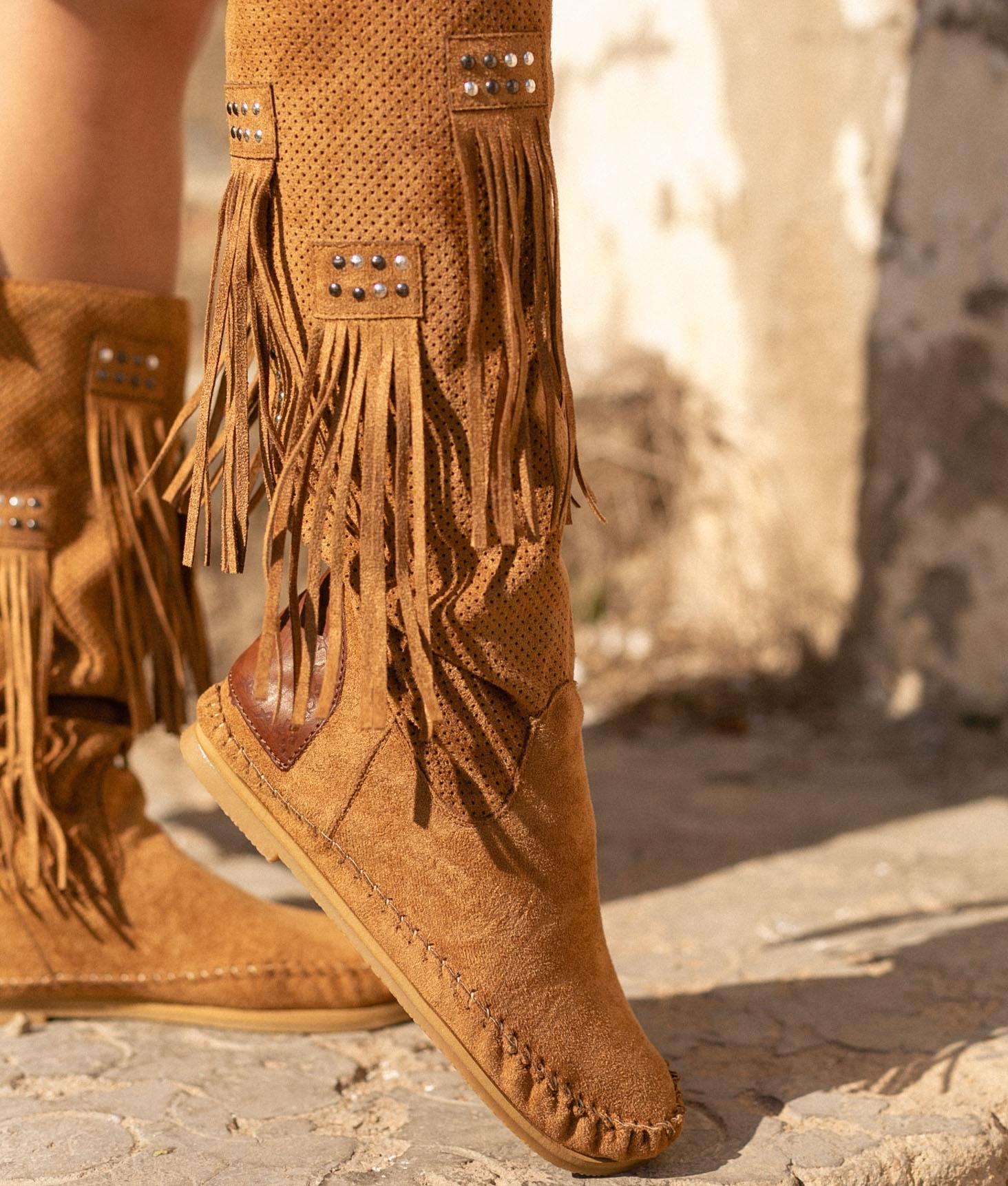 Bota Indianini Chavel Flecos - Camel
