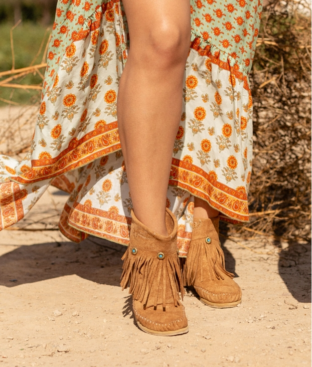 Bota Indianini Saria - Camel
