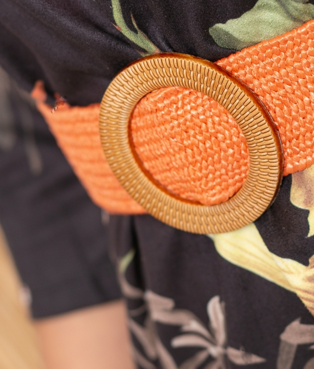Cinturón Bambala - Naranja