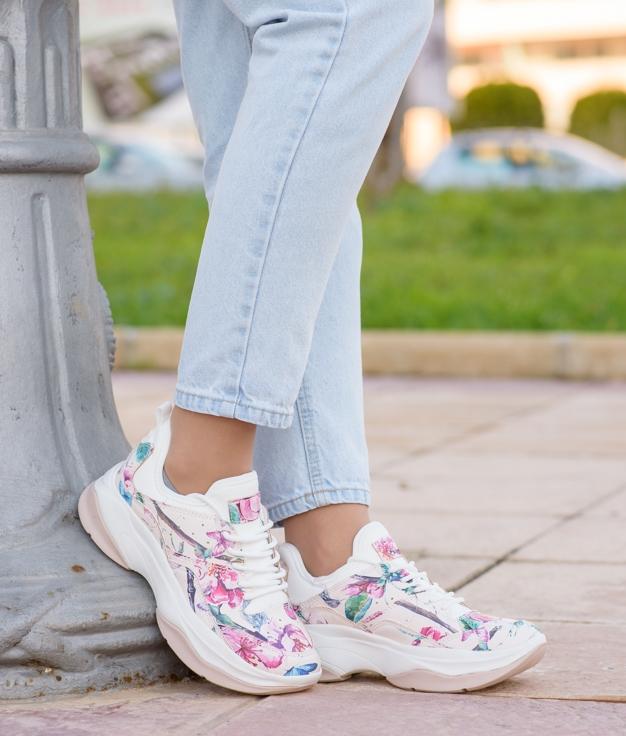 Sneakers Lasla - Nude