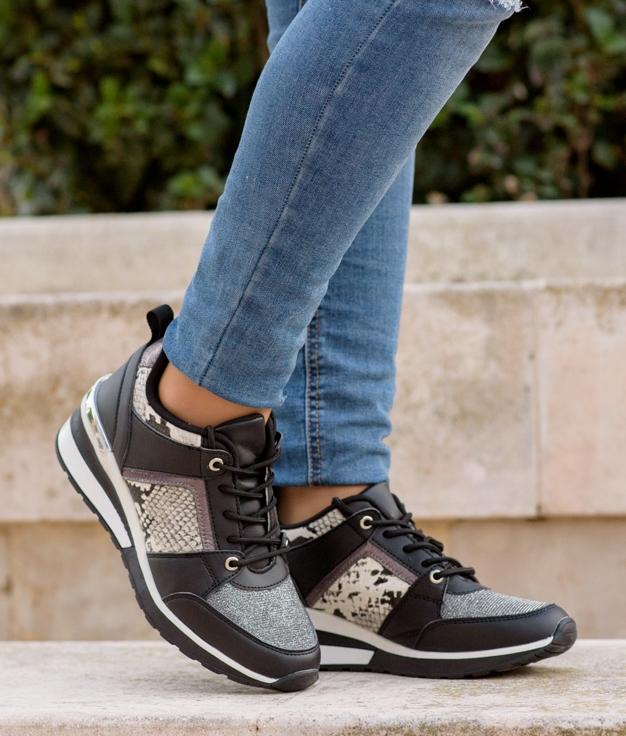 Sneakers Vinis - Negro