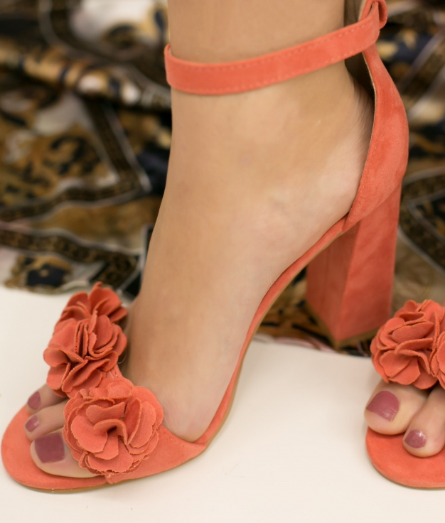 Sandale Talon Paquera - Rose