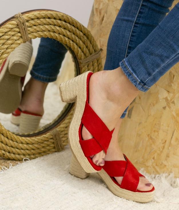 Sandalia de Tacón Oracu - Rojo