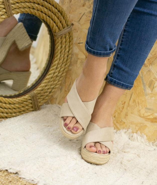 Sandalia de Tacón Oracu - Beige