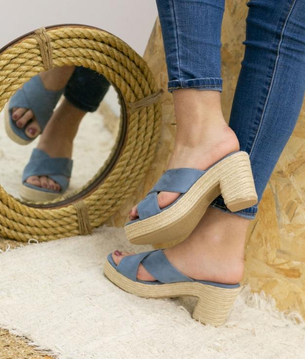 Sandália de Salto Oracu - Jeans