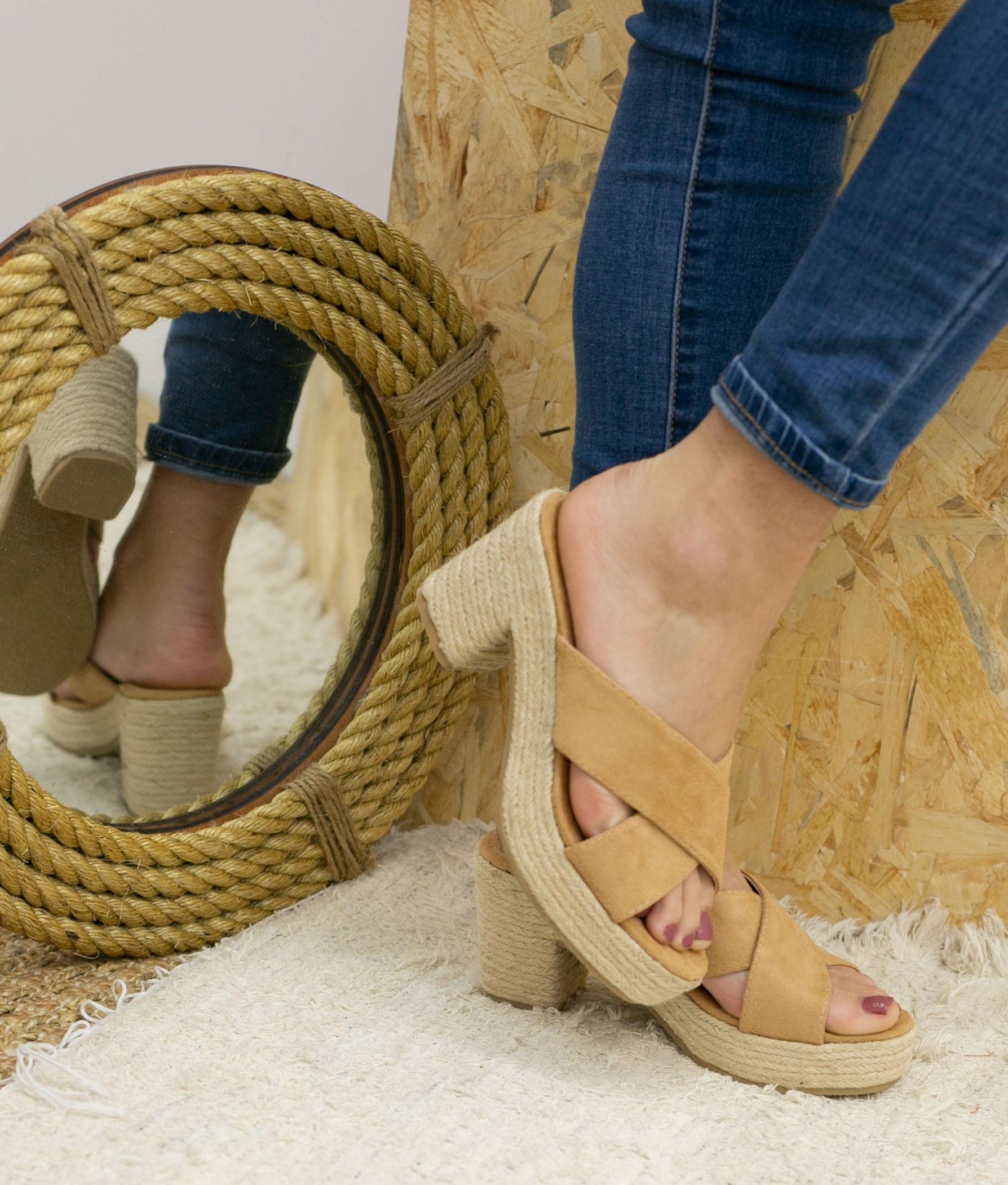 Sandalo Alto Oracu - Cammello