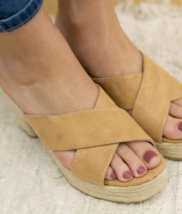 Sandalia de Tacón Oracu - Camel