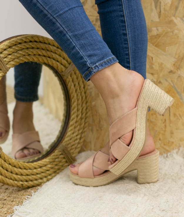 Sandalia de Tacón Oracu - Rosa