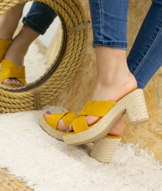 Sandalia de Tacón Oracu - Amarillo